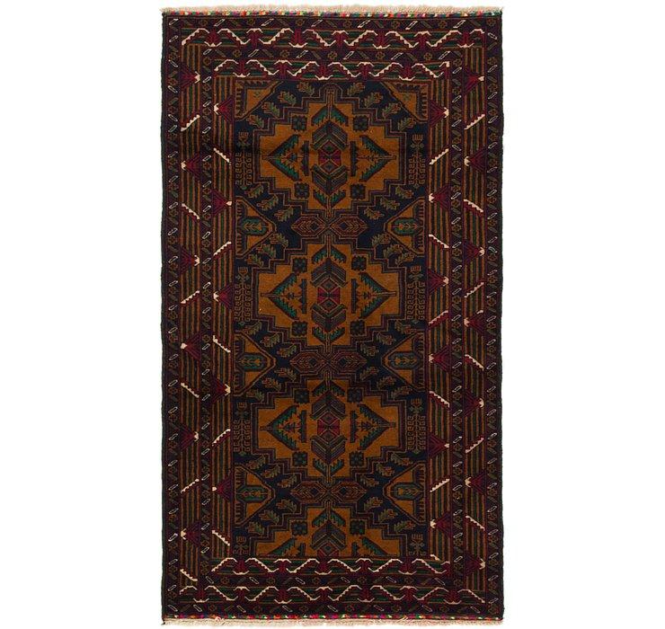 3' 10 x 7' Balouch Persian Rug
