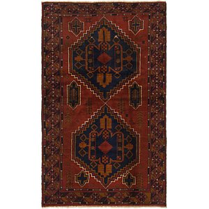 HandKnotted 3' 7 x 6' Balouch Persian Rug