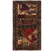 Link to 3' 6 x 6' 3 Balouch Persian Rug