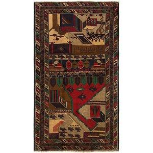 Unique Loom 3' 6 x 6' 3 Balouch Persian Rug