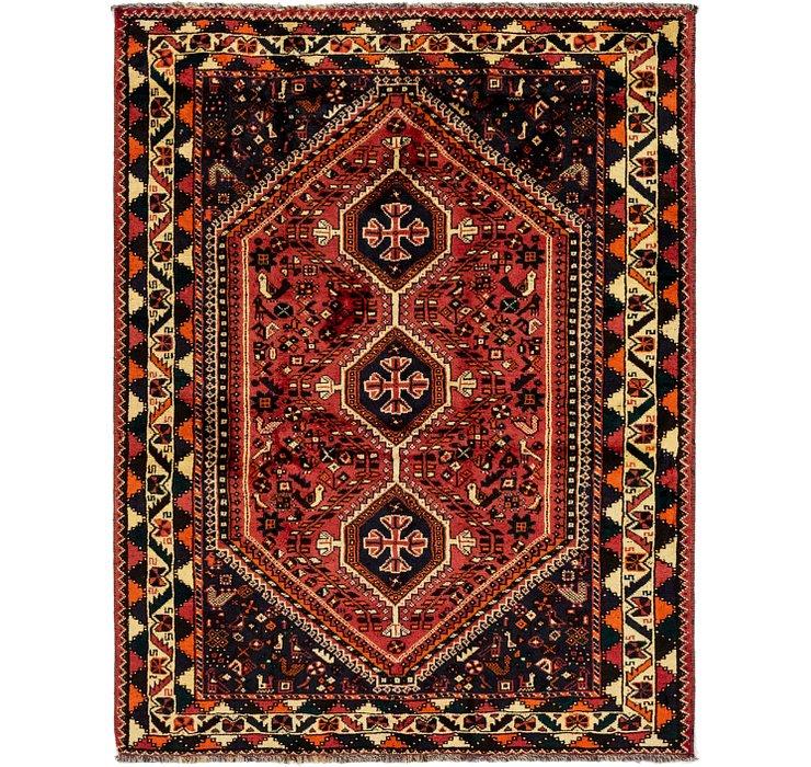 5' 4 x 6' 10 Ghashghaei Persian Rug