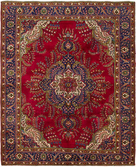 Red 9 10 X 12 4 Tabriz Persian Rug Persian Rugs Irugs Uk