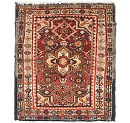 Link to 2' 6 x 2' 9 Hossainabad Persian Square Rug