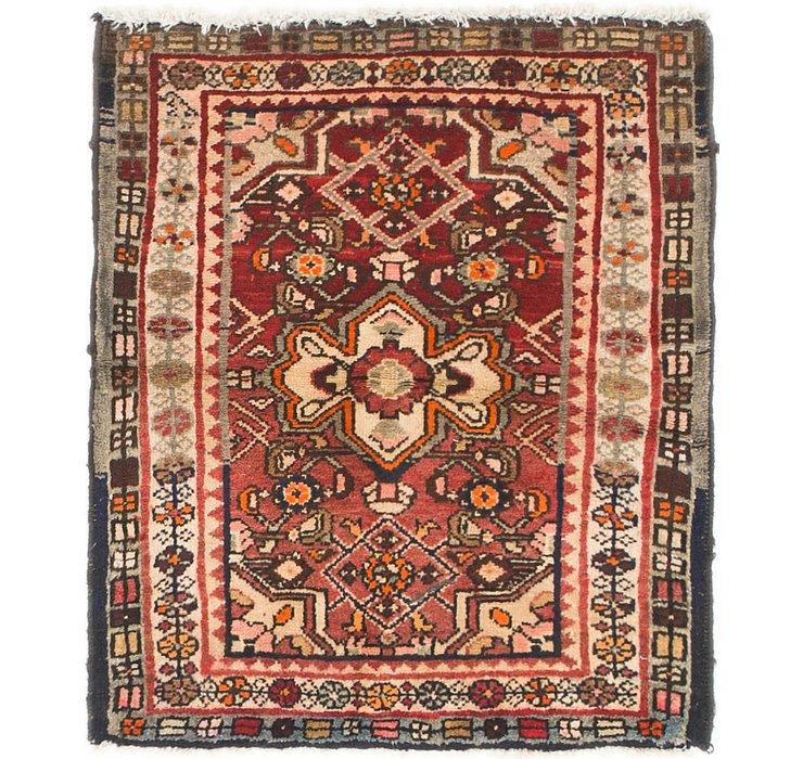 2' 6 x 2' 9 Hossainabad Persian Squ...