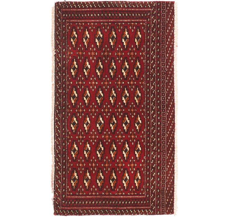 1' 8 x 3' Torkaman Persian Rug