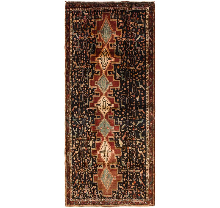 152cm x 340cm Senneh Persian Runner Rug