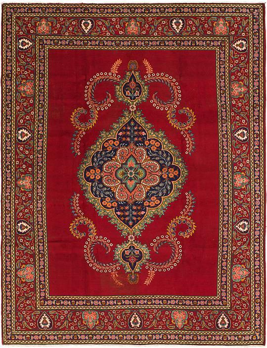 Red 9 4 X 12 10 Tabriz Persian Rug Persian Rugs Irugs Uk