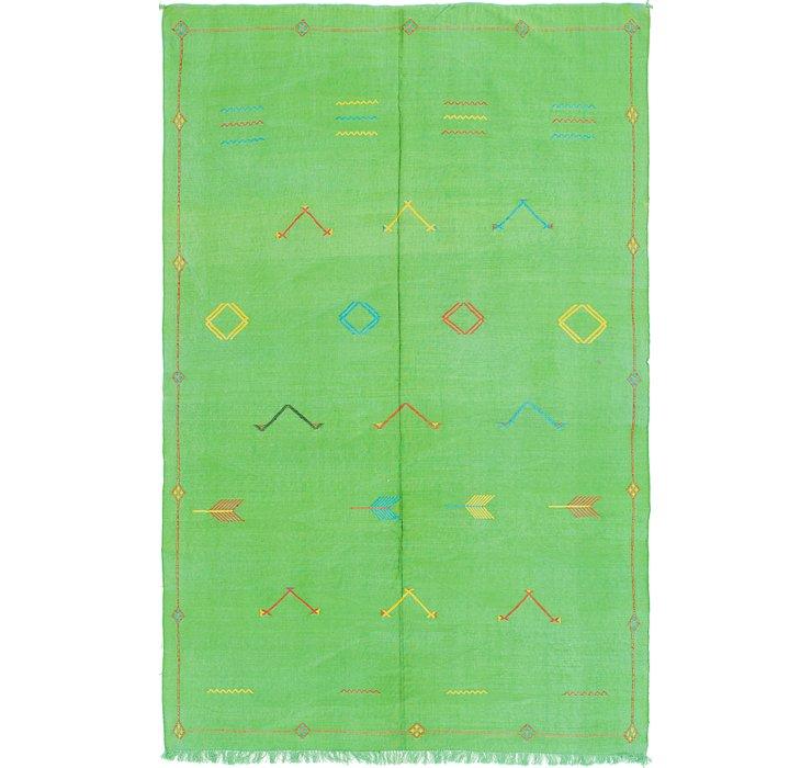 5' 6 x 9' Moroccan Oriental Rug