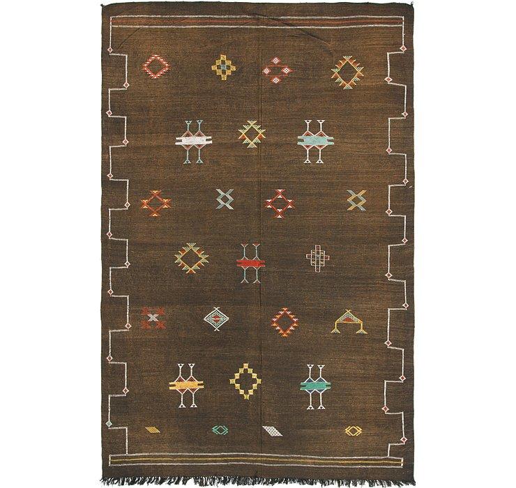 6' x 9' 5 Moroccan Oriental Rug