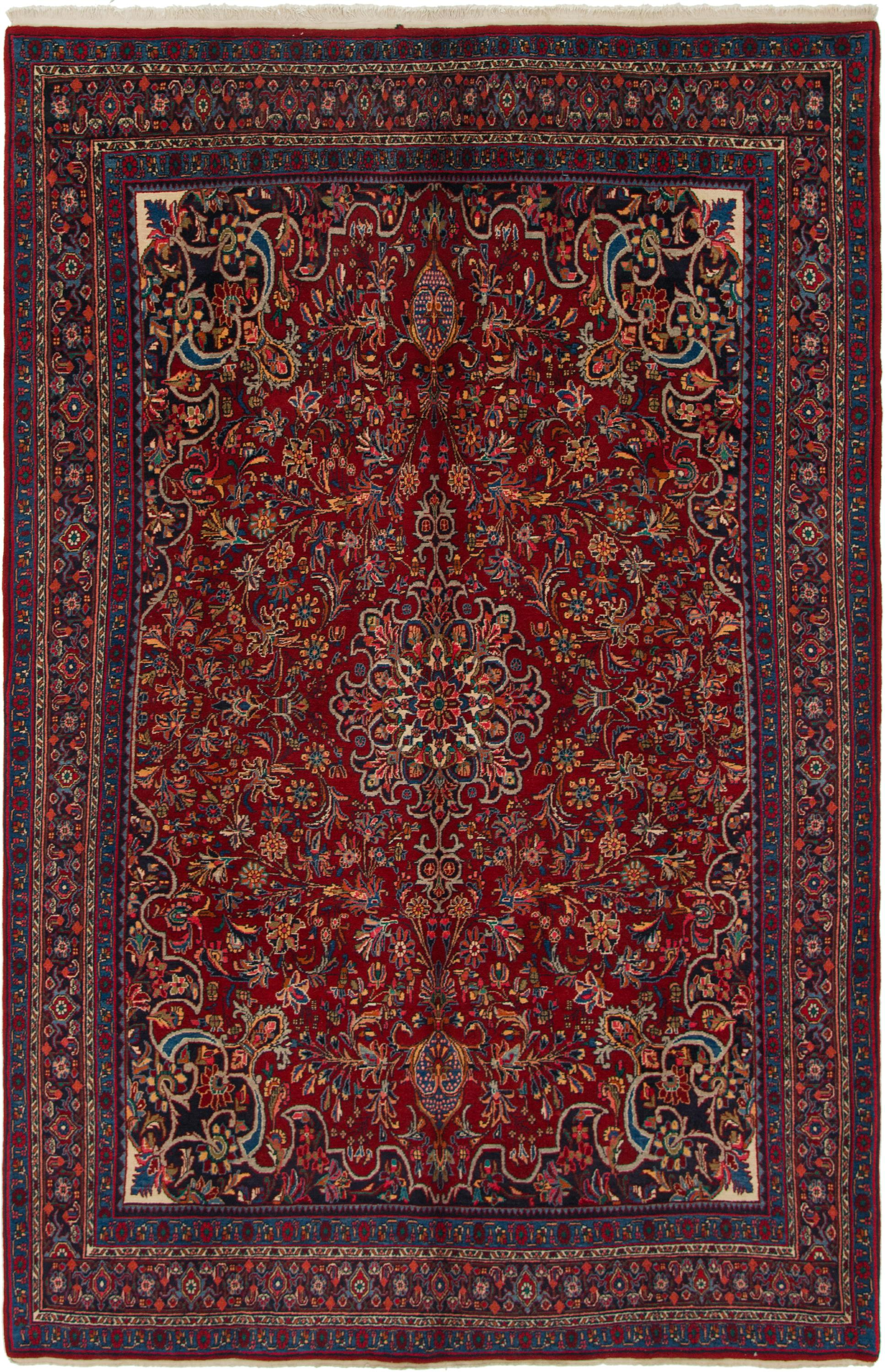Red 7 X 11 Bidjar Persian Rug Handknotted Com