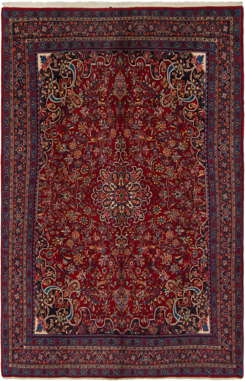 Red 7 X 11 Bidjar Persian Rug Handknotted Com