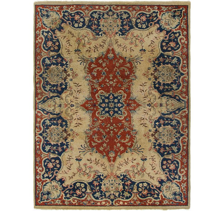 6' 7 x 8' 10 Kerman Persian Rug