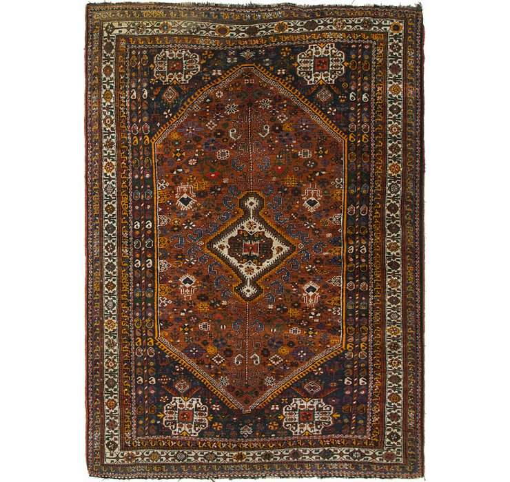 5' 9 x 8' 3 Shiraz Persian Rug