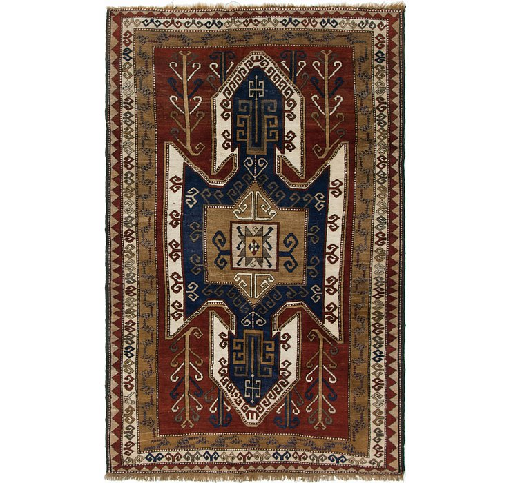 HandKnotted 5' 1 x 8' 6 Kars Rug