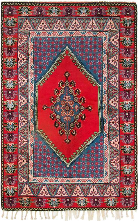 Red 5 2 X 8 2 Moroccan Rug Oriental Rugs Esalerugs