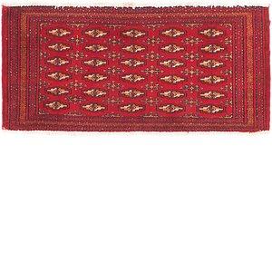 HandKnotted 1' 6 x 3' 4 Torkaman Persian Rug