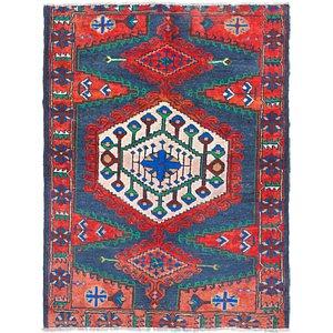 3' 4 x 4' 7 Viss Persian Rug