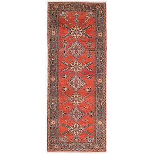 Link to 117cm x 315cm Heriz Persian Runner Rug item page