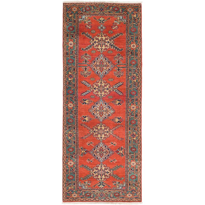 3' 10 x 10' 4 Heriz Persian Runner Rug