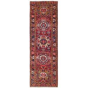 Link to 110cm x 375cm Heriz Persian Runner Rug item page