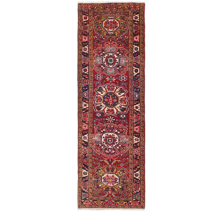 3' 7 x 12' 4 Heriz Persian Runner Rug