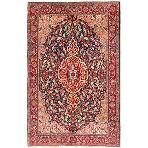 4' 5 x 7' 2 Sarough Persian Rug