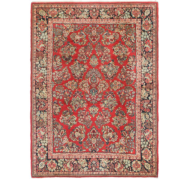 6' 5 x 9' Sarough Persian Rug