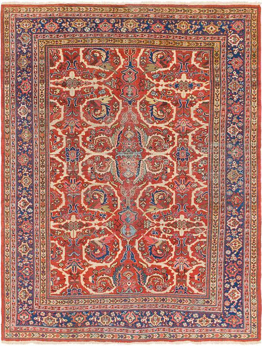 Red 230cm X 305cm Heriz Persian Rug Persian Rugs Irugs