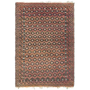 Link to 3' 4 x 4' 9 Balouch Persian Rug item page