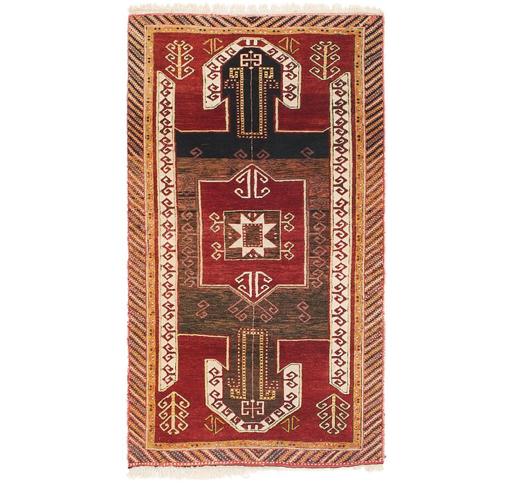 HandKnotted 3' 5 x 6' 4 Kars Rug