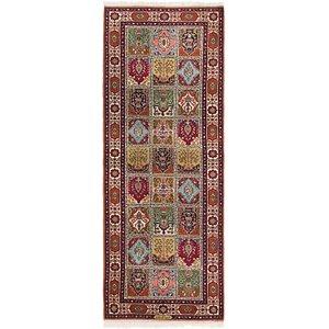 3' x 8' 4 Tabriz Persian Runner Rug