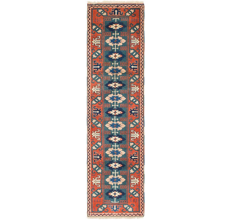 2' 9 x 10' 5 Kars Oriental Runner Rug
