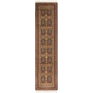 Link to 2' 5 x 10' 6 Bokhara Oriental Runne... item page