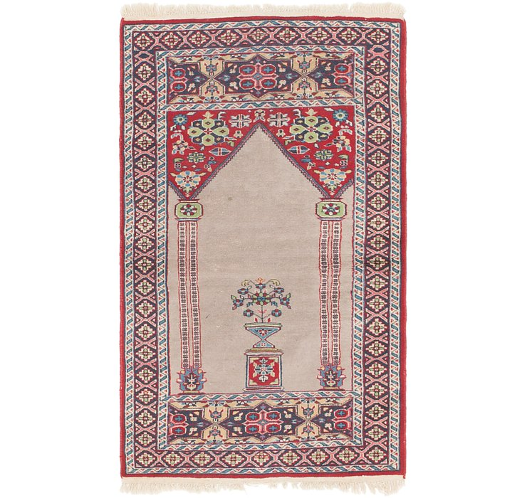 2' 7 x 4' 5 Lahour Oriental Rug