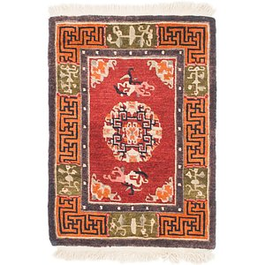 60cm x 85cm Antique Finish Rug