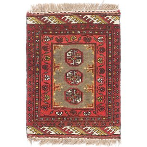 1' 8 x 2' 6 Afghan Akhche Rug