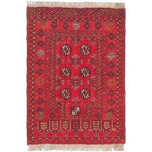 HandKnotted 2' 8 x 4' Afghan Ersari Rug