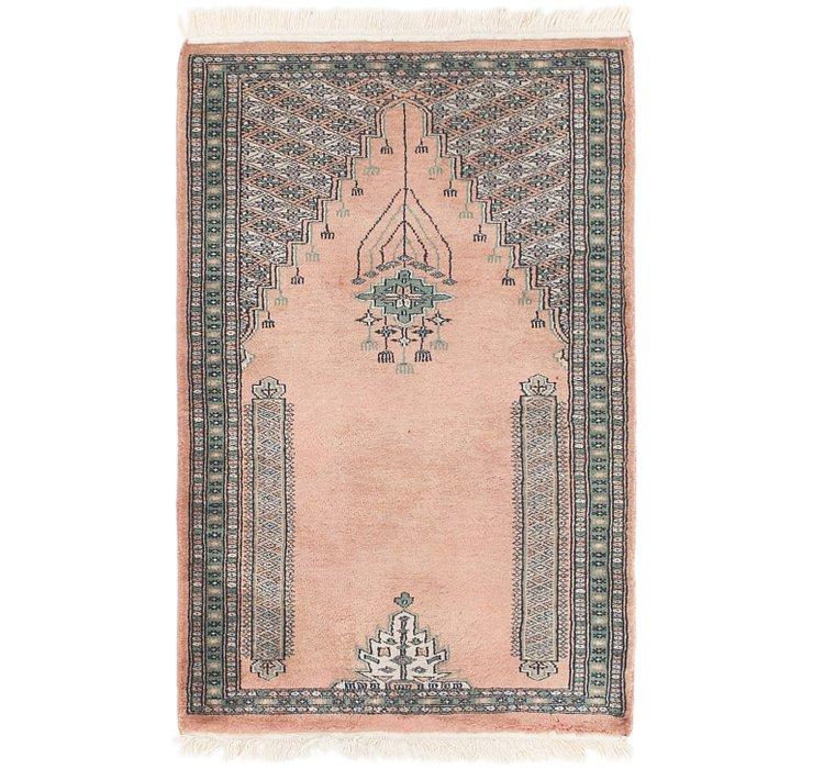 2' 7 x 4' Lahour Oriental Rug