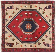 Link to 3' 5 x 3' 7 Kelardasht Persian Square Rug