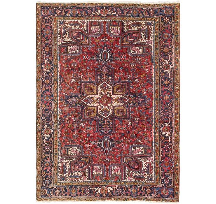 7' x 9' 8 Heriz Persian Rug