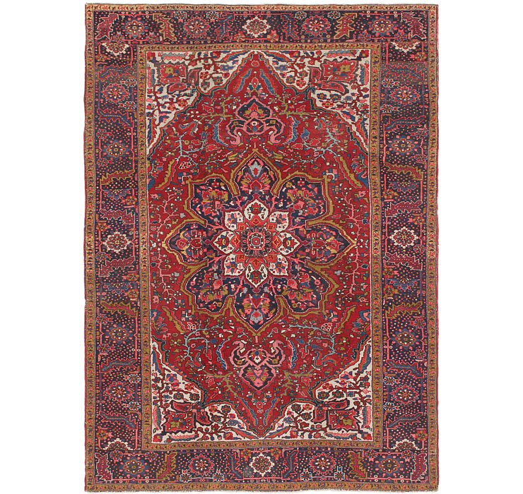 8' 3 x 11' 10 Heriz Persian Rug