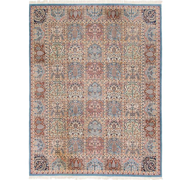 9' x 12' Tabriz Oriental Rug