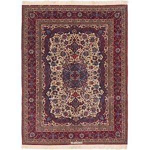9' 2 x 12' 5 Isfahan Persian Rug