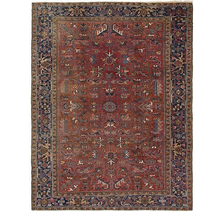 8' 9 x 11' 2 Heriz Persian Rug