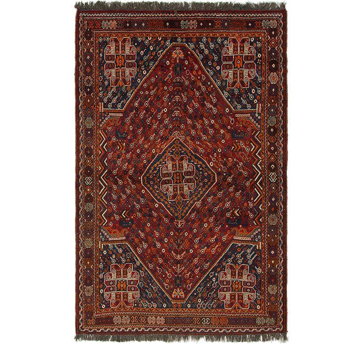 5' 4 x 8' 8 Shiraz Persian Rug