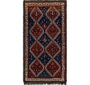 Link to 4' 2 x 8' Ghashghaei Persian Rug