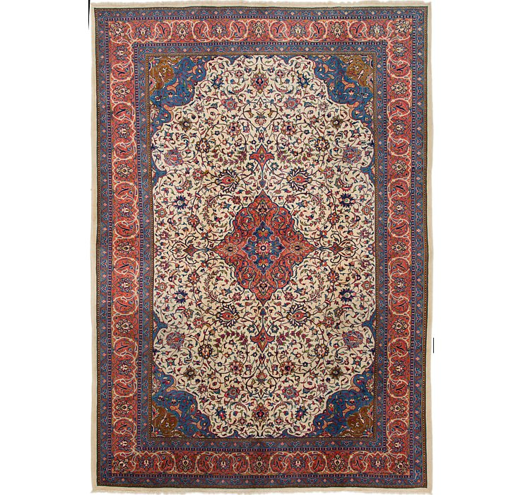 8' x 11' 5 Sarough Persian Rug