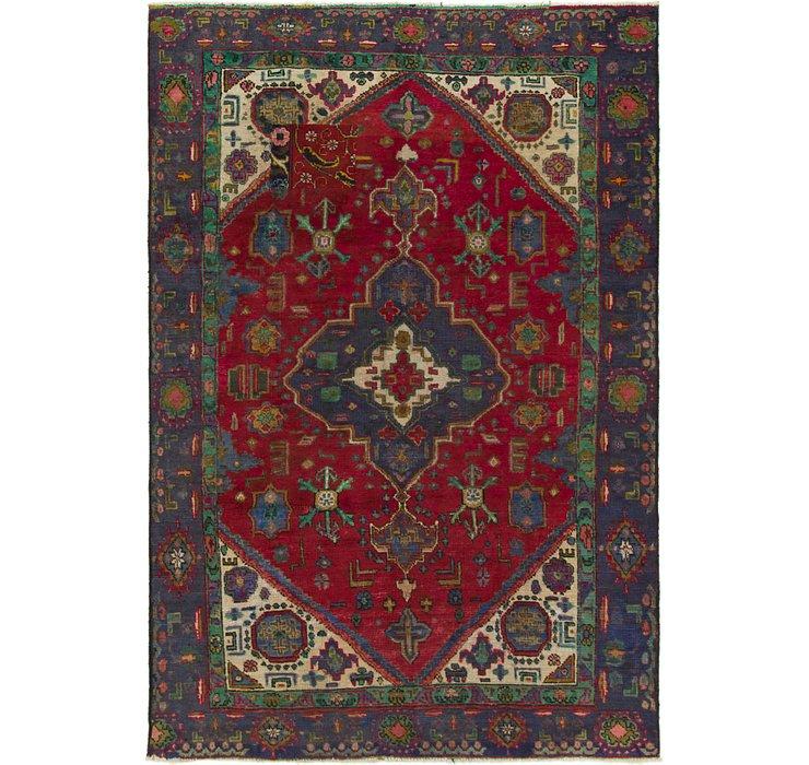 6' x 8' 10 Tabriz Persian Rug