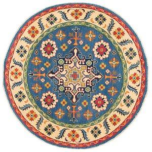 Link to 5' x 5' Kazak Round Rug item page