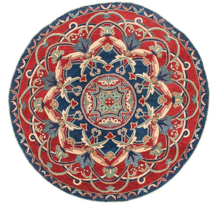 HandKnotted 6' 5 x 6' 5 Kazak Round Rug